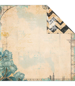 """Somewhere In Time Double-Sided Cardstock 12""""X12""""-Imagination"""