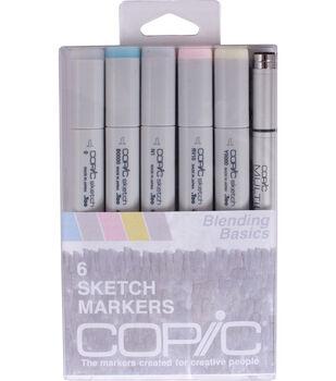 Copic Sketch Marker + Multi-Liner Pen 6/Pkg-Blending Basics