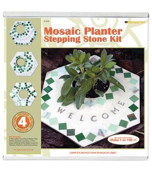 Mosaic Stepping Stone Kit-Planter