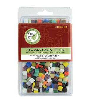 """Classico Mini Tile Mix 5/16"""" 16oz/Pkg-Assorted Colors"""