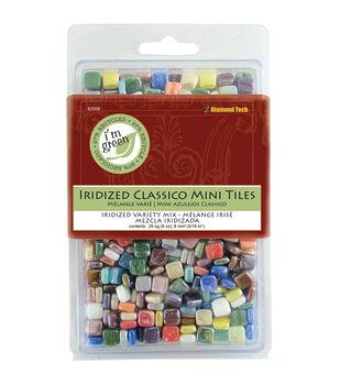 "Classico Mini Iridized Tile Mix 5/16"" 8oz/Pkg-Assorted Colors"