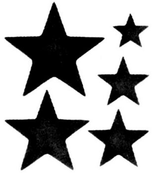 "Simply Stencils 8""X10""-Star Template"