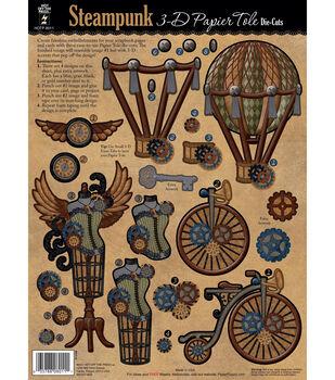 3-D Papier Tole Die-Cuts-Steampunk
