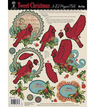 3-D Papier Tole Die-Cuts-Tweet Christmas