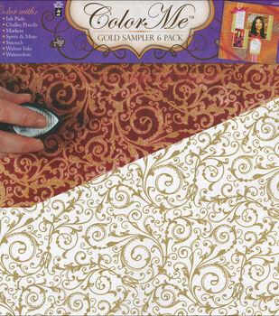 """Color Me Paper Sampler Pack 12""""X12"""" Sheets 6/Pk-Gold"""