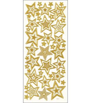 3D Dazzles Stickers-Stars-Gold