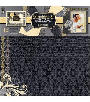 "Paper Pack 12""X12"" 12 Sheets-Sunshine & Shadows"