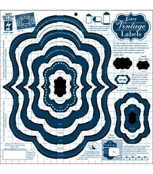 "Templates 12""X12""-Easy Vintage Label"