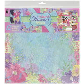 Hot Off The Press Paper Pack Painted Flowers