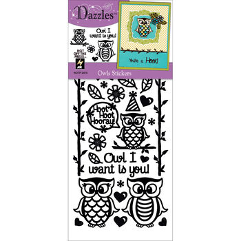 Owls Brown-dazzles Stickers