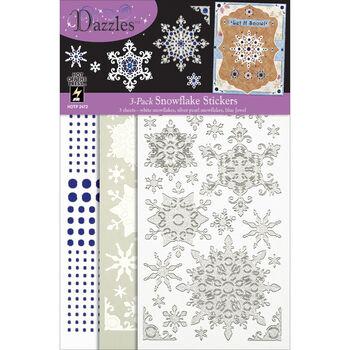Hot Off The Press Dazzles Stickers Mixems Snowflake Tri Color