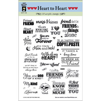 Hot Off The Press Acrylic Stamps Heart To Heart Greetings