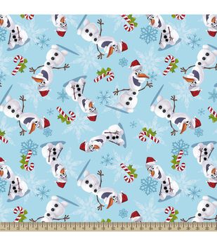 Holiday Inspirations Christmas Fabric- Christmas Frozen Olaf Plush