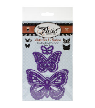 Paper Artist Cutting Die-3 Butterflies & 2 Shadows