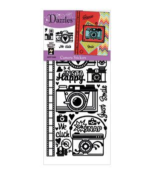 Dazzles Stickers-Black Cameras