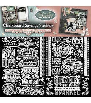 Dazzles Stickers 2/Pkg-Chalkboard Sayings