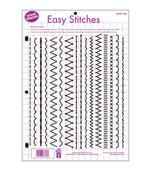 Hot Off The Press 8-1/2''x11'' Templates-Easy Stitches