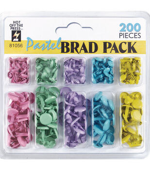 Hot Off The Press Brads-200PK/Pastel