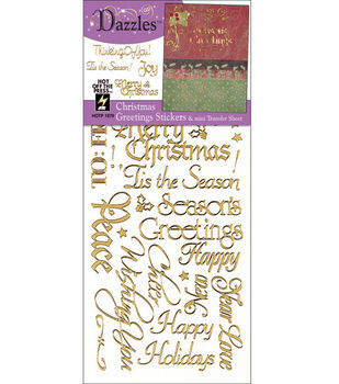 Hot Off The Press Dazzles Stickers-Christmas Greeting
