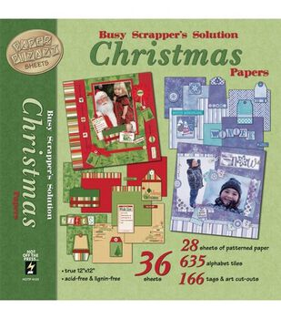 Hot Off The Press 12''x12'' Pages And Paper Embellishments-Christmas