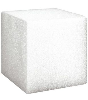 Floracraft 3''x3''x3'' Styrofoam Cubes-24PK/White