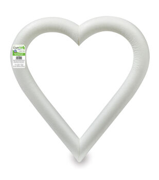 12in Extruded Foam Heart White