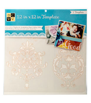 """DCWV 12""""x12"""" Template: Damask"""