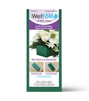 Floracraft 2-7/8''x3-7/8''x8-7/8'' Floral Foam Block-1PK/Green