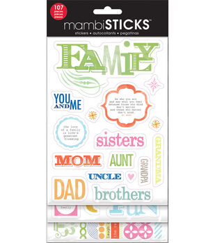 Me & My Big Ideas Glitter Sticker Value Pack-Family
