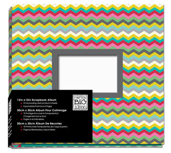 12x12 Photo Album Multi Colored Chevron