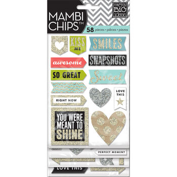 Me & My Big Ideas Mambi Chipboard Stickers Love This