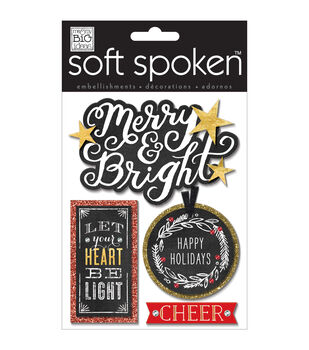 Soft Spoken Themed Embellishments-Let Your Heart Be Light