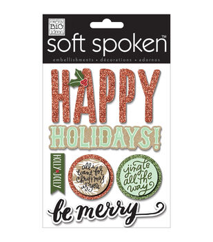 Soft Spoken Themed Embellishments-Jingle All The Way