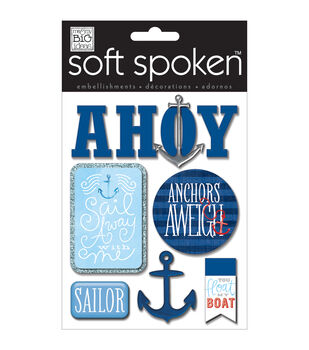 Soft Spoken Themed Embellishments-Ahoy
