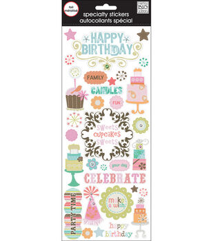Me & My Big Ideas Specialty Stickers-Happy Birthday