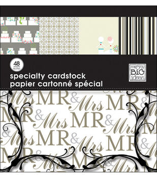 Me & My Big Ideas 12''x12'' Specialty Cardstock-48PK/Wedding