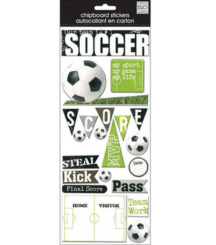 Me & My Big Ideas Chipboard Stickers-Soccer