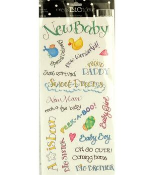 me & my BiG Ideas Sayings Stickers-Baby
