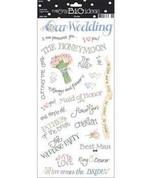 me & my BiG Ideas Wedding Sayings Stickers