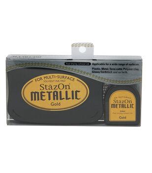 Tsukineko StazOn Metallic Ink Kit-Gold