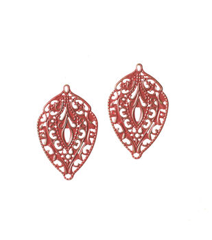 Inspired Classics Red Painted Filigree Charms