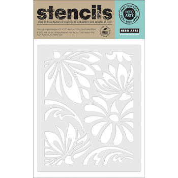 Hero Arts Stencils-Large Lotus Pattern