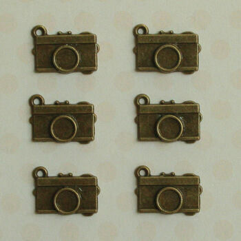 Maya Road Vintage Metal Findings Mini Memories Cameras