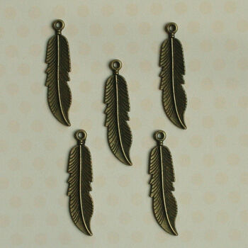 Maya Road Antique Metal Findings Mini Quill Feathers
