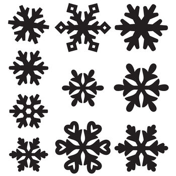Maya Road Chipboard Snowflakes Mini
