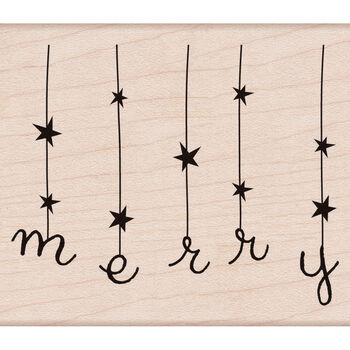 Hero Arts Mounted Rubber Stamps Merry With Stars