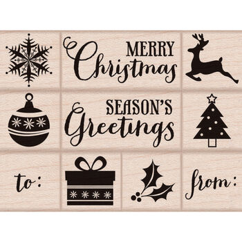 Hero Arts Mounted Rubber Stamp Set Tiny Christmas