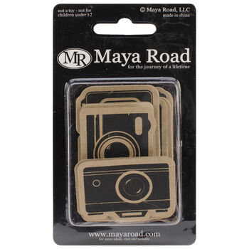 Maya Road Kraft Die-Cuts Picture Perfect Camera Black