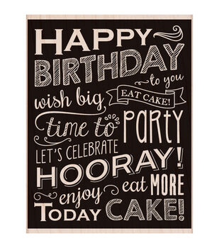 Hero Arts Mounted Rubber stamps Birthday Blackboard