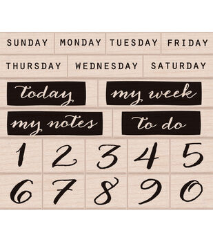Hero Arts Mounted Rubber Stamp Set Days Of The Week & Numbers